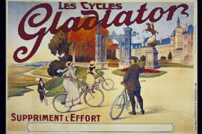 Vintage French advertising poster - Les Cycles Galdiator